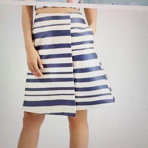 Topshop horizontal blue and white stripes